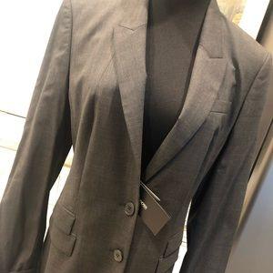 Hugo Boss dark grey lined fitted NWT blazer 8